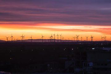 éoliennes pour montrer l'économie d'énergie