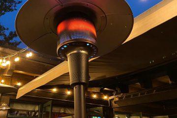 parasol chauffant pour terrasse extérieure