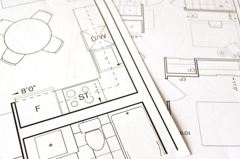 plan d'intérieur d'aménagement d'une maison