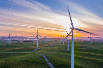 éolienne avec l'énergie du vent