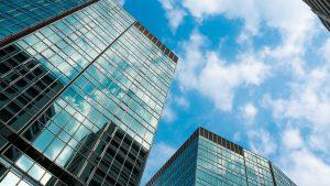Immeubles dans un quartier d'affaires