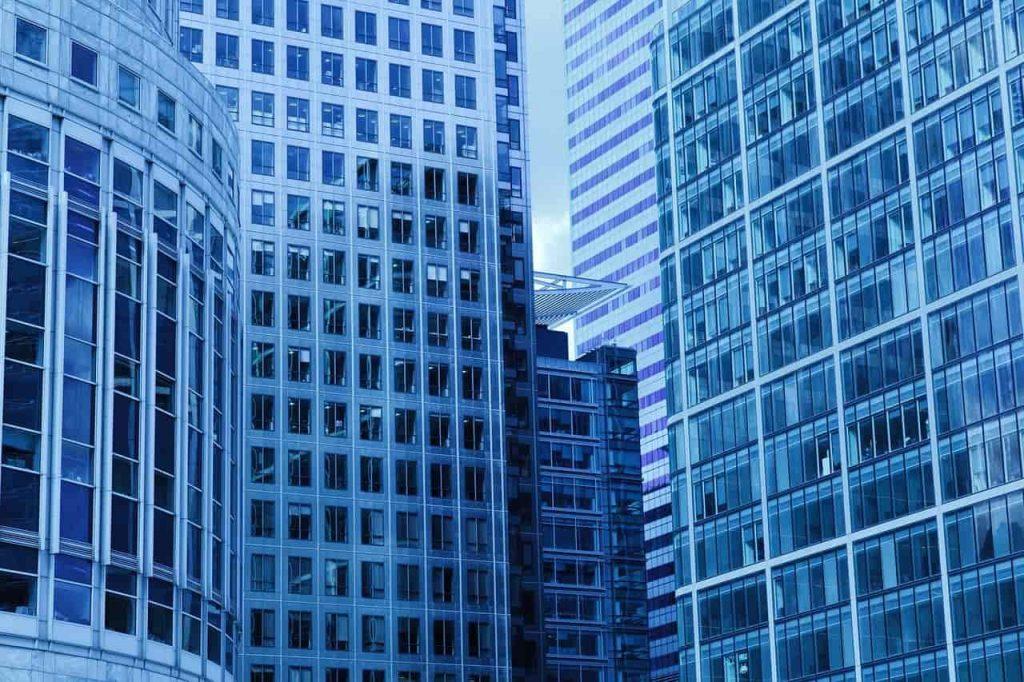bâtiment vitre tour